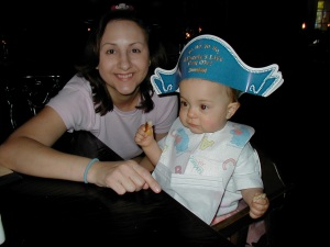 Celebrating my daughter's 1st birthday at Blue Bayou, January 2004