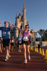 running through the Castle during my first WDW Marathon, 2009