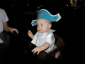 Celebrating Kathryn's 1st Birthday at Disneyland's Blue Bayou, January 2004