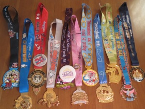 2013 runDisney Medals (thus far...)