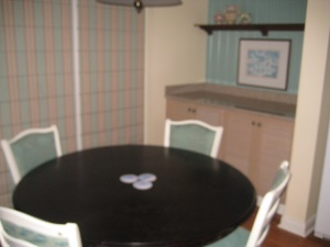 2-bedroom dining room; note extra storage