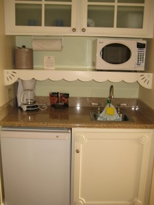 Wet bar and mini-fridge