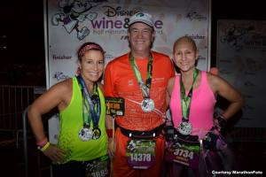 Merle, Joe & I - 2013 Wine and Dine Half Marathon