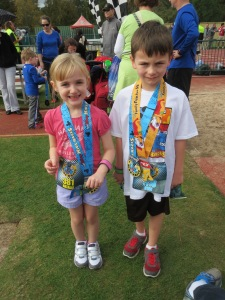 Finishers of the 2014 Walt Disney World Family Fun Run 5K and Kids Races 200, 400 meters