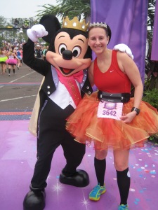At the finish of the 2013 Princess Half Marathon with Mickey!