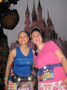 Nicole & I in back of Cinderella Castle