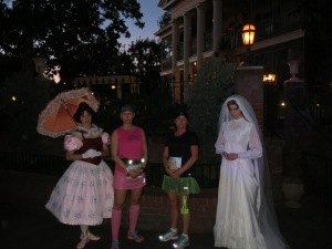 In front of The Haunted Mansion