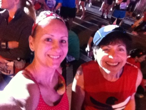 With Janice before the 2013 WDW Marathon