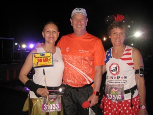 With Joe and Linda before the start of the 2014 WDW Marathon