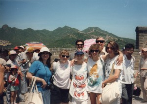 At the Great Wall of China 1988 (I'm taking the photo)
