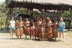 In the Amazon visit a local tribe, Peru 1985?