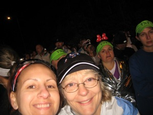 With Alison before the 2011 WDW Marathon
