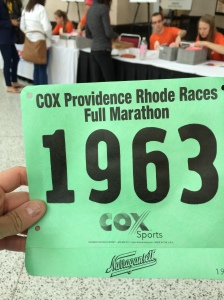My Full Marathon Bib