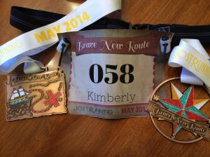 Brave New Route medals and bib