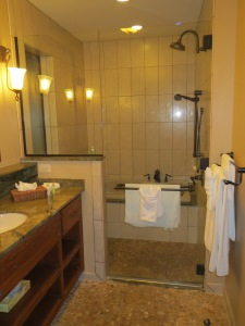Master bath with jacuzzi tub, shower, double sinks