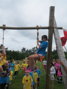 The final obstacle of the Spartan Kids Race
