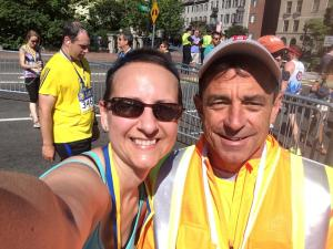 Finish line #selfie with @BostonMarathon race director Dave McGillivray