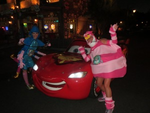 In Cars Land with Lightening McQueen