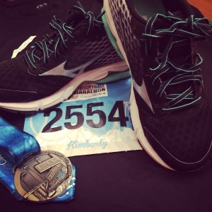 Mizuno Wave Rider 18's broken in during the Hershey Half