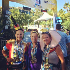 2014 Disneyland Half Marathon Finish