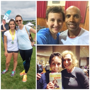 With Aly Raisman, Meb Keflezighiand Kathrine Switzer