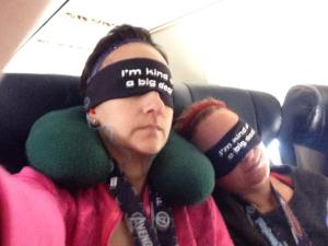 Nap on the plane