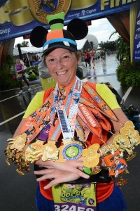 All 10 Goofy Challenge Medals for Perfectly Goofy Gail - photo runDisney